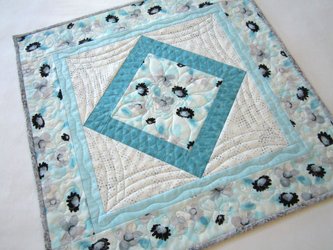 Spring Floral Quilted Table Topper