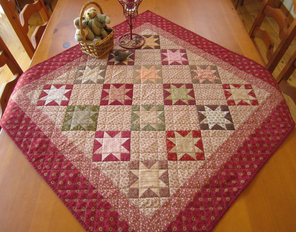 Traditional Star Quilted Table Topper