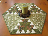 Pine Sprigs Table Topper in Hexagon Shape