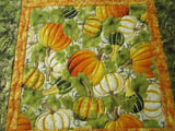 Table Topper with Pumpkins and Gourds