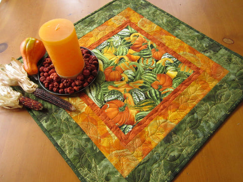 Fall Table Topper with Gourds