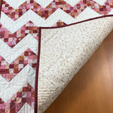 Table Topper Pink Peach Quilted Square Handmade for the Home