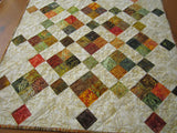 Autumn Decor Quilted Batik Table Topper