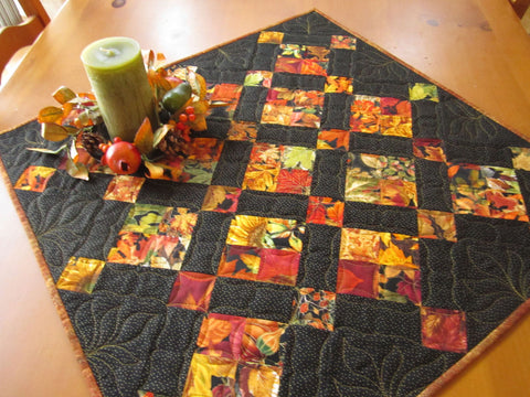 Table Topper Autumn Leaves