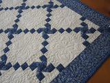 Blue Quilted Table Topper
