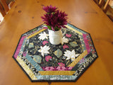 Table Topper with Flowers Home Decor