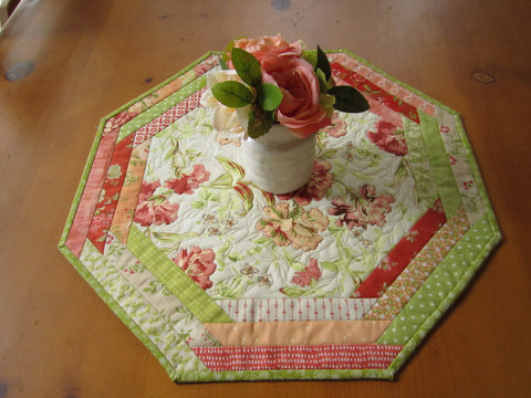Floral Table Topper Handmade Table Mat