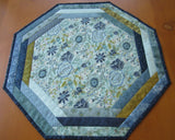 Blue Table Topper Octagon Shape
