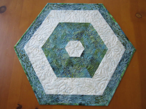 Table Topper Hexagon Batik Home Decor