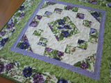 Table Topper Purple Floral Home Decor