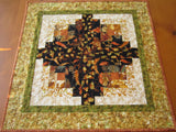 Fall Quilted Handmade Table Topper with Leaves