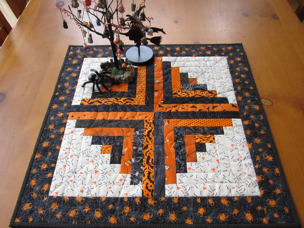 Halloween Table Topper in Black and Orange