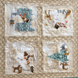 Table Topper with Snowmen Holiday Decor
