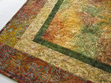 Quilted Table Topper using Batiks
