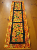 Handmade Quilted Table Runner Floral Home Decor