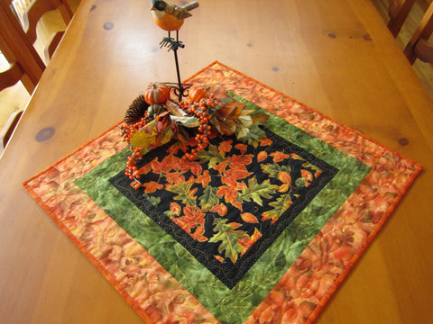 Table Topper Fall Quilted Handmade