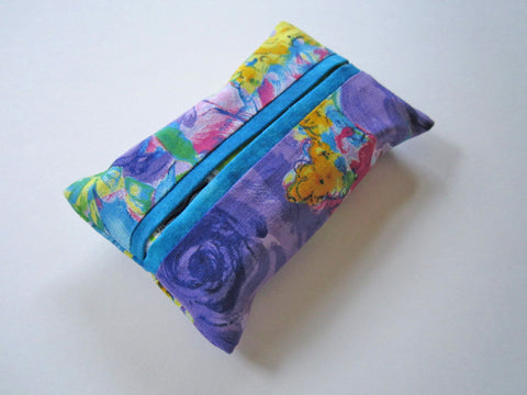 Travel Tissue Cover in Bright Colors