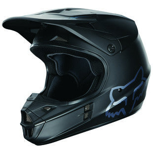 Fox V1 Matte Black Helmet - Motor Sports World