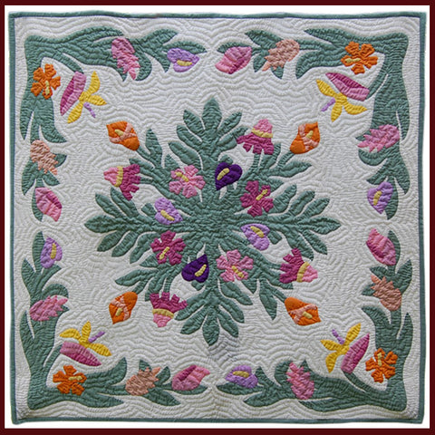 "Hawaiian Quilt - 42"" Wall Hanging"