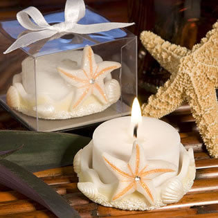 Starfish Design Candle