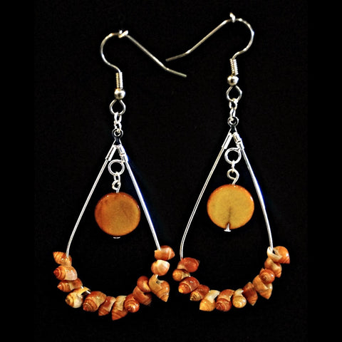 Shell Earrings - Hoop Style