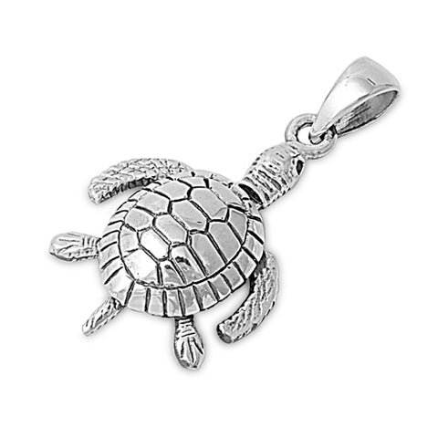 Sterling Silver sea turtle pendant