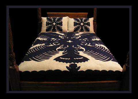 Hawaiian Quilt - Kahili and Fan