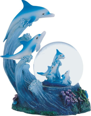 Dolphin Family Snow Globe