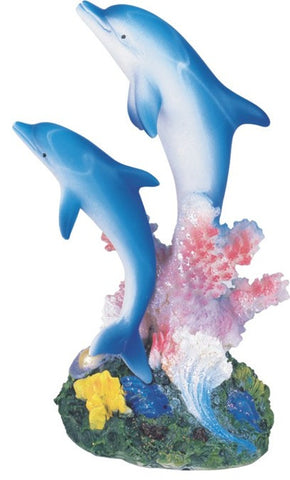 Blue Dolphins with Coral