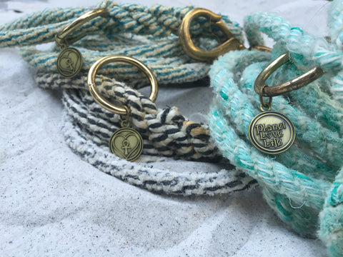 recycled rope dog leashes