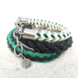 black bracelets recycled fishing rope