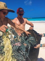 volunteers beach cleanup project bahamas
