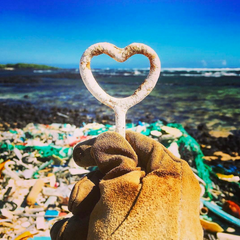 Love Life Heart Beach Trash