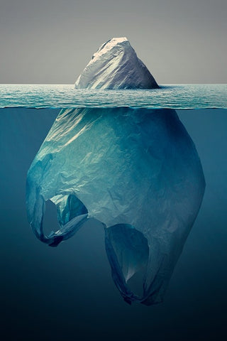 iceberg of plastic