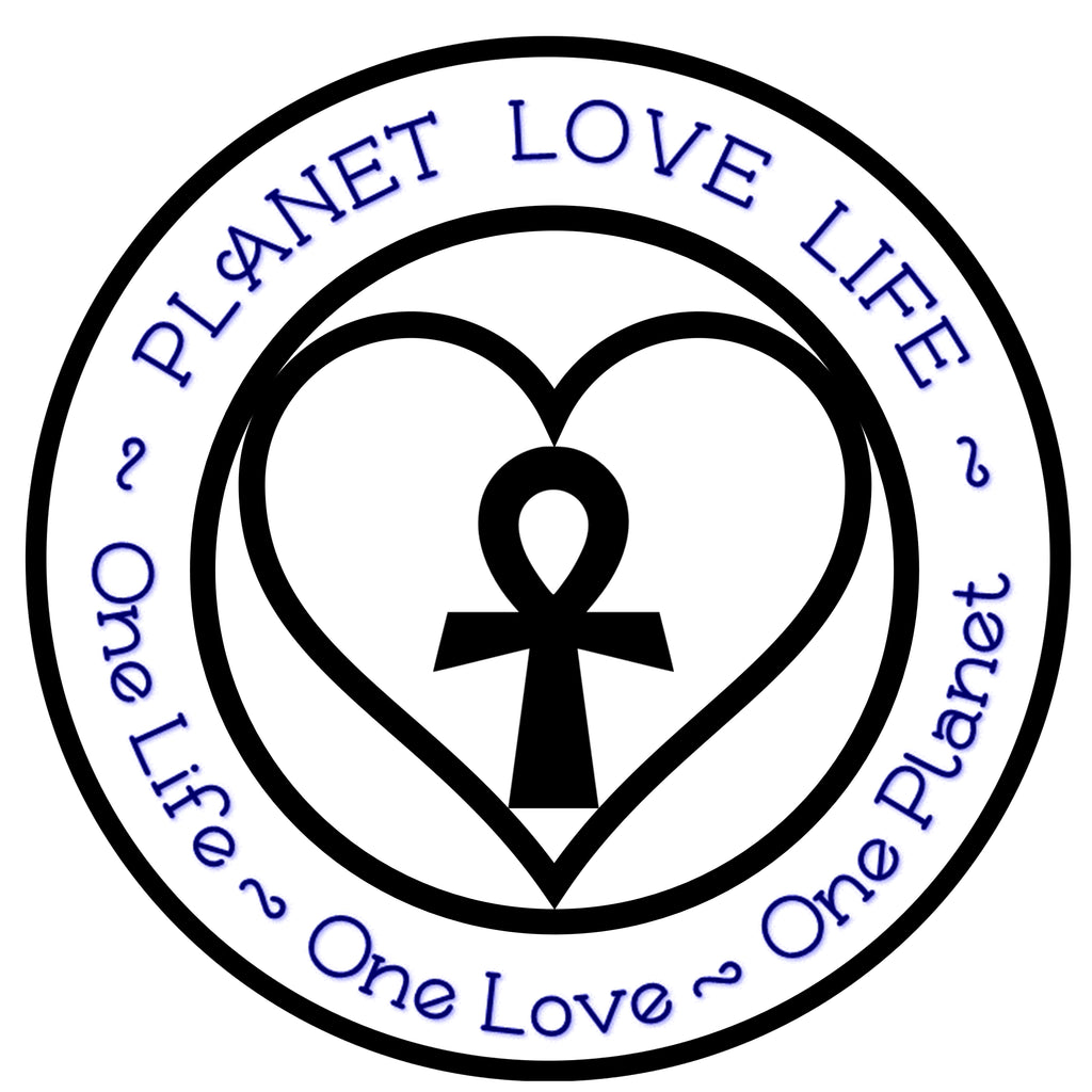 Planet Love Life Ocean Pollution Awareness Black White Stickers