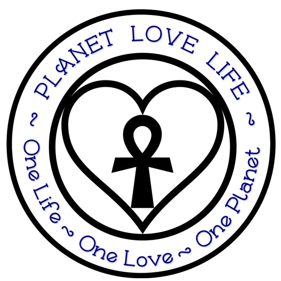 Black & Blue Sticker - Planet Love Life - Recycled Ocean Plastic Bracelet