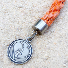coral reef orange rope keychain