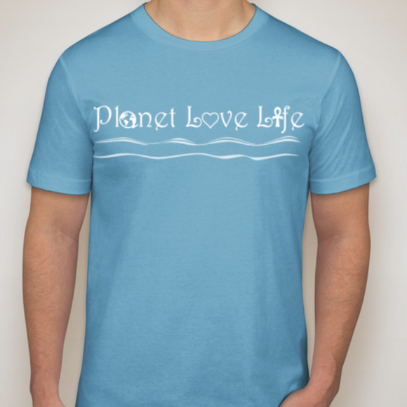 Planet Love Life Men's T-Shirt - Planet Love Life - Recycled Ocean Plastic Bracelet