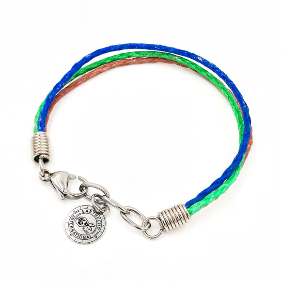 EarthEcho Bracelet - Planet Love Life - Recycled Ocean Plastic Bracelet