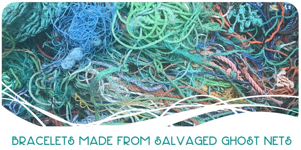Recycled Marine Debris Fishing Net Rope Bracelets