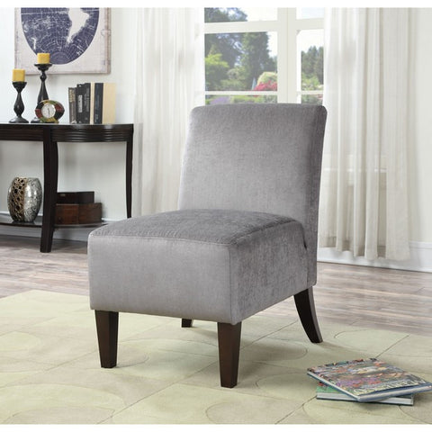 Ac Pacific Claire Gray Armless Slipper Accent Chair CLAIRE-C