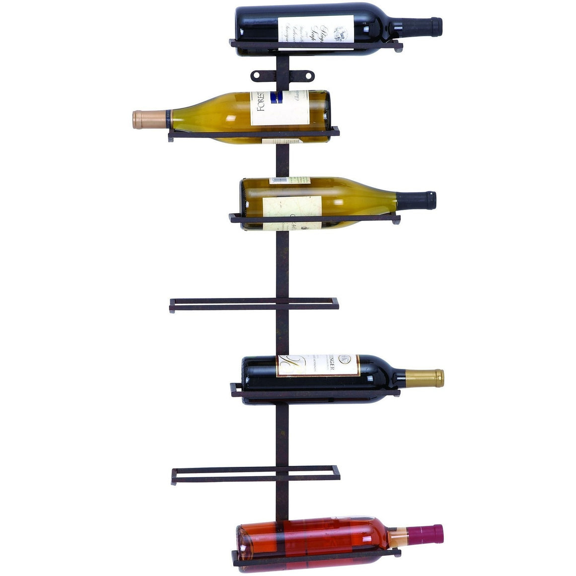 Benzara 66028 Modern Wall Wine Rack With 7 Horizontal Slots