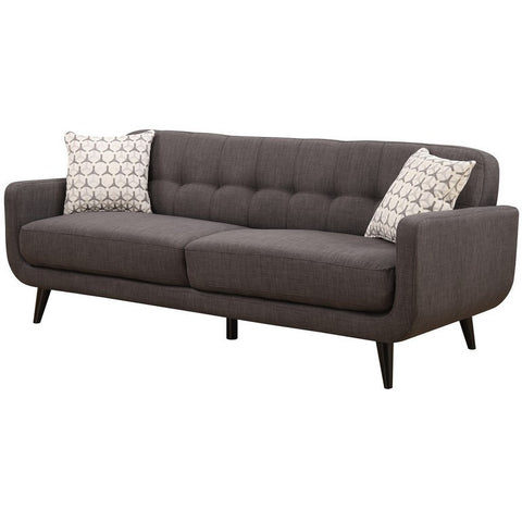 Ac Pacific Crystal Charcoal Mid-Century Sofa