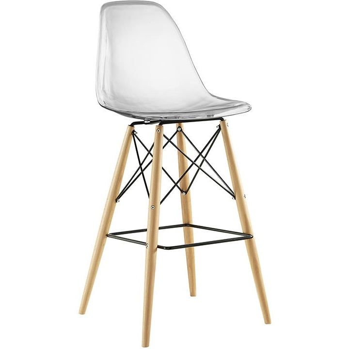 Modway Furniture EEI-1701-CLR Pyramid Bar Stool Clear