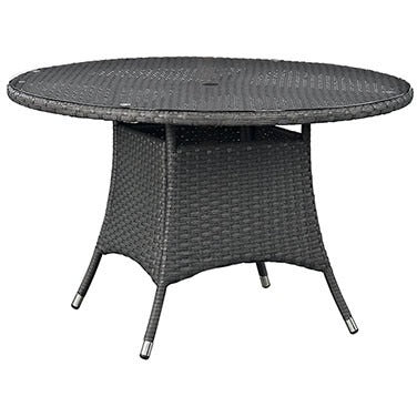 "Sojourn 47"" Round Outdoor Patio Dining Table EEI-1927-CHC"