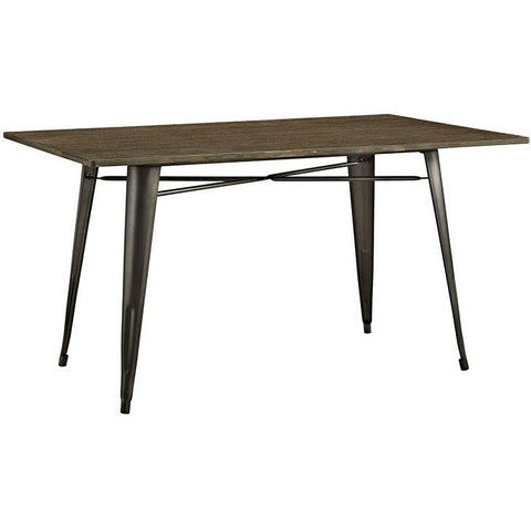 "Modway Furniture Alacrity 59"" Rectangle Wood Dining Table"