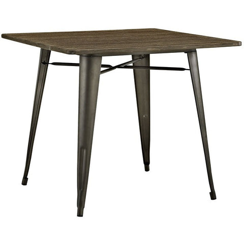 "Modway Furniture Alacrity 36"" Square Wood Dining Table"