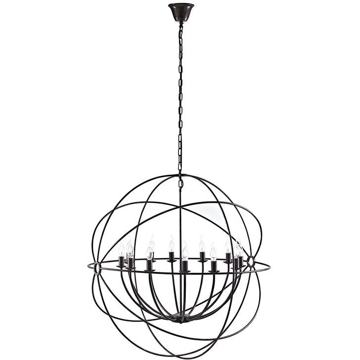 "Modway Furniture Atom 39.5"" Chandelier in Brown"