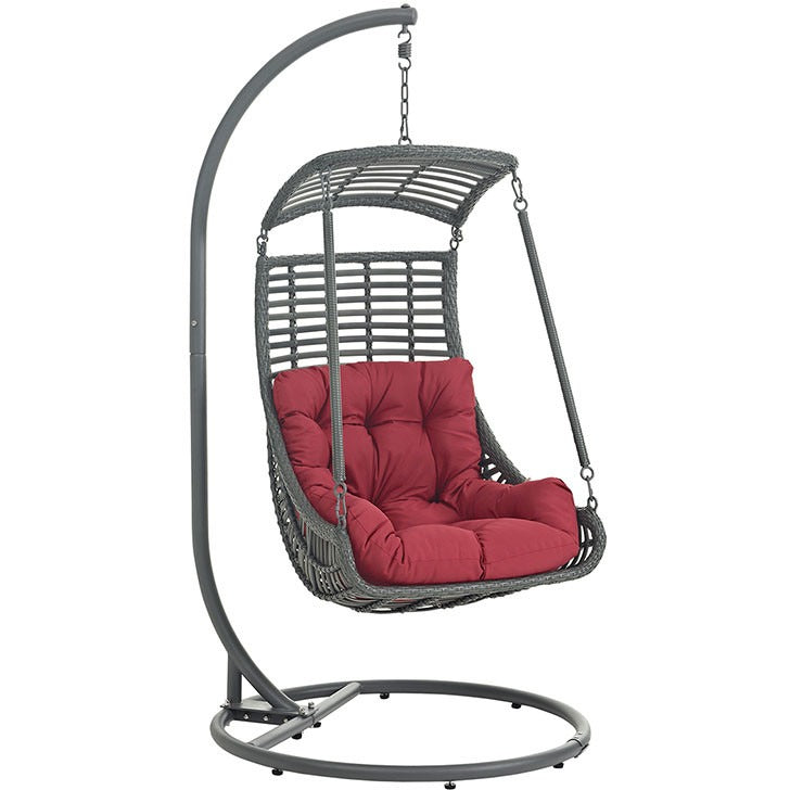 Jungle Outdoor Patio Swing Chair With Stand Modway Furniture EEI-2274