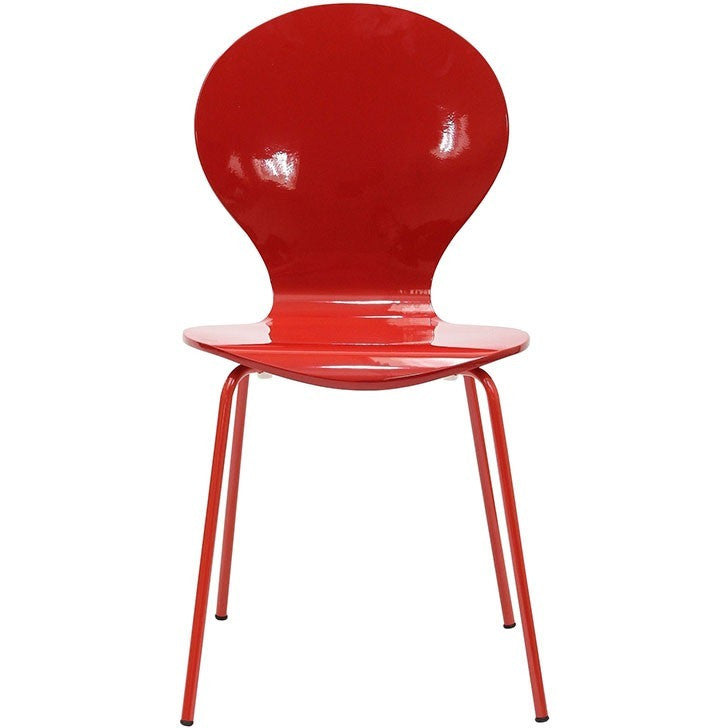 Modway Furniture Insect Dining Wood Side Chair Red EEI-574-RED